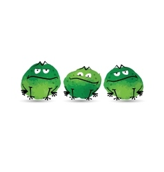 Funny frogs Watercolor sketch for your design vector image
