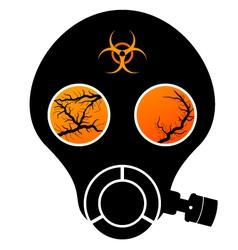 gas mask stencil vector image