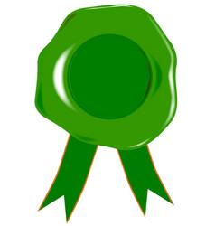 Green blank seal vector
