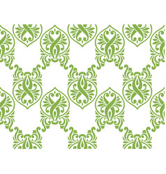 Green ecology damascus seamless pattern background vector