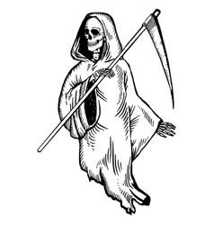 grim reaper pop art vector image