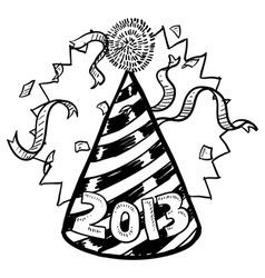 Happy New Year hat 2013 vector