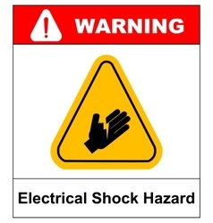 high voltage sign or electrical safety sign danger vector image