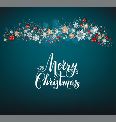 holiday blue christmas card vector image