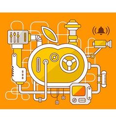 Industrial of the mechanism of apple vector