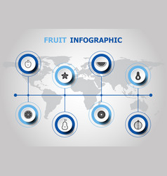 Infographic design with fruit icons vector