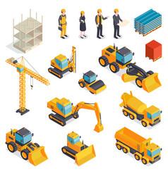 Isometric building equipment set vector