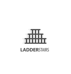 Ladder stairs logo vector