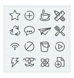 Line icon set vector