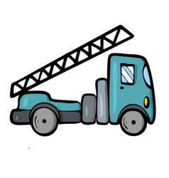Lorry on white background cute cartoon transport vector