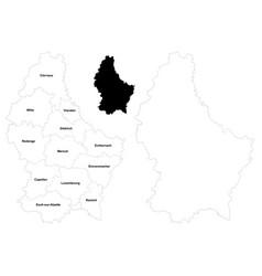 Luxembourg outline map vector