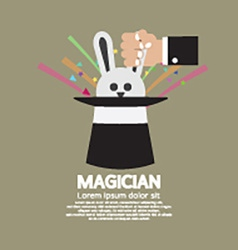Magicians Hand With Rabbit In The Hat vector image