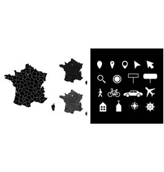 map france administrative regions departments vector image