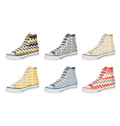 Mens shoes keds pattern vector