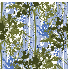 mixed forest lanscape fir trees birch trees vector image