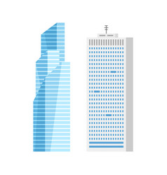 modern city skyscraper buildings isolated vector image