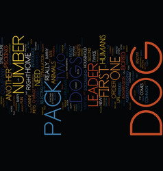 number two dog text background word cloud vector image