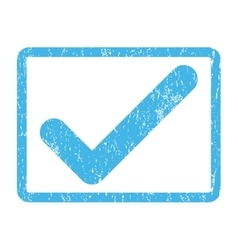 Ok Icon Rubber Stamp vector