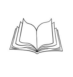 Open book 1 vector