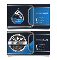 Plumbing repair business card concept vector