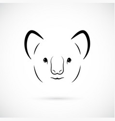 portrait of cute koala bear line art animal icon vector image