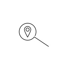 position search line icon vector image