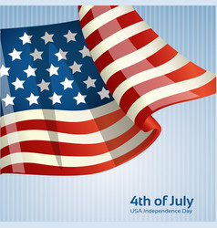 Poster with american flag on independence day vector