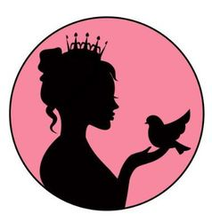 princess holding a little bird in palm vector image