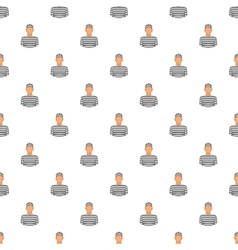 Prisoner pattern cartoon style vector