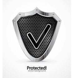protected icon vector image