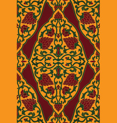 Red yellow and green pattern vector