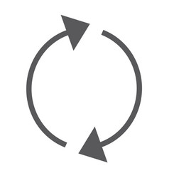Reload glyph icon rotation and spin refresh vector