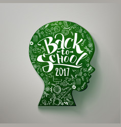 Schoolboy face chalkboard vector