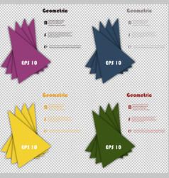 set of minimal geometric covers design geometric vector image