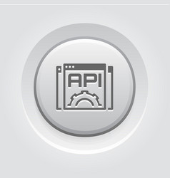 Settings api icon flat design vector