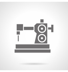 Sewing hobby glyph style icon vector
