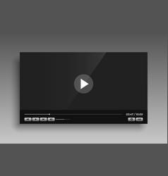 social media video player mockup template design vector image