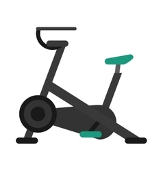 stationary bicycle machine gym sport vector image