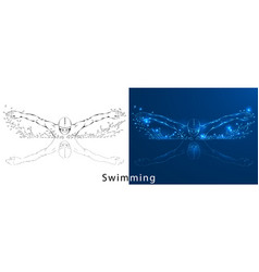 Swimmer a with vector