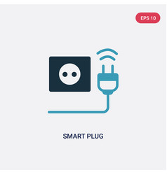 Two color smart plug icon from smart home concept vector