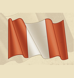 vintage flag peru vector image