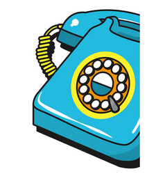 Vintage telephone cartoon vector