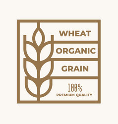 Wheat organic grain line icon or linear style vector