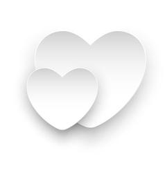white heart white vector image