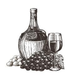 Wine logo design template liqueur vector
