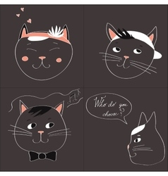 with the image of four cats and text vector image