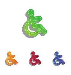 Disabled sign Colorfull applique vector image vector image