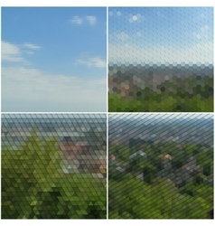 Forest landscape Collection of abstract vector image vector image
