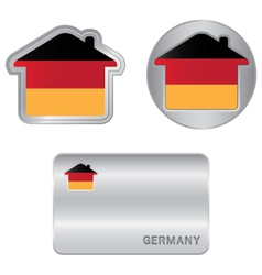 Home icon on the Germany flag vector image vector image