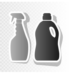 household chemical bottles sign new year vector image